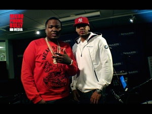 Sean Kingston and DJ Steel at Hip Hop Nation Studio