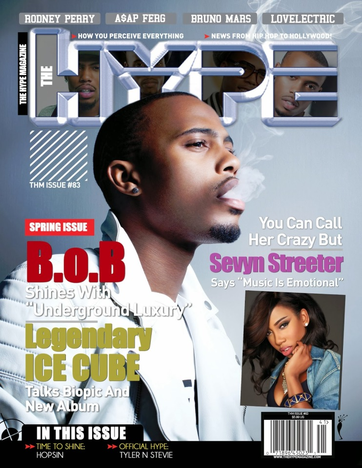 B.o.B. covers the Spring newsstand issue of The Hype Magazine | @bobatl @sevyn @icecube @AtlanticRecords | The Hype Magazine 24/7 News