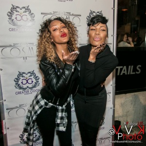 Meagan looks Stunning with her Sister La'myia for Greater Good Event / hiphopondeck.com